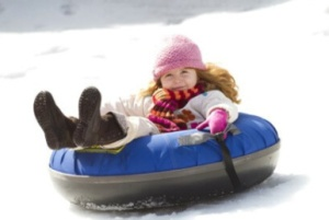 Girl-Sled-Tube