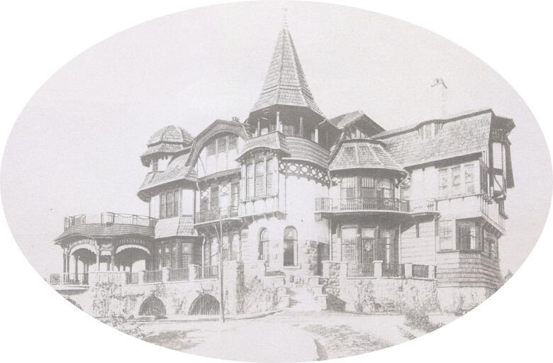 Старинная фотография усадьбы Льялово