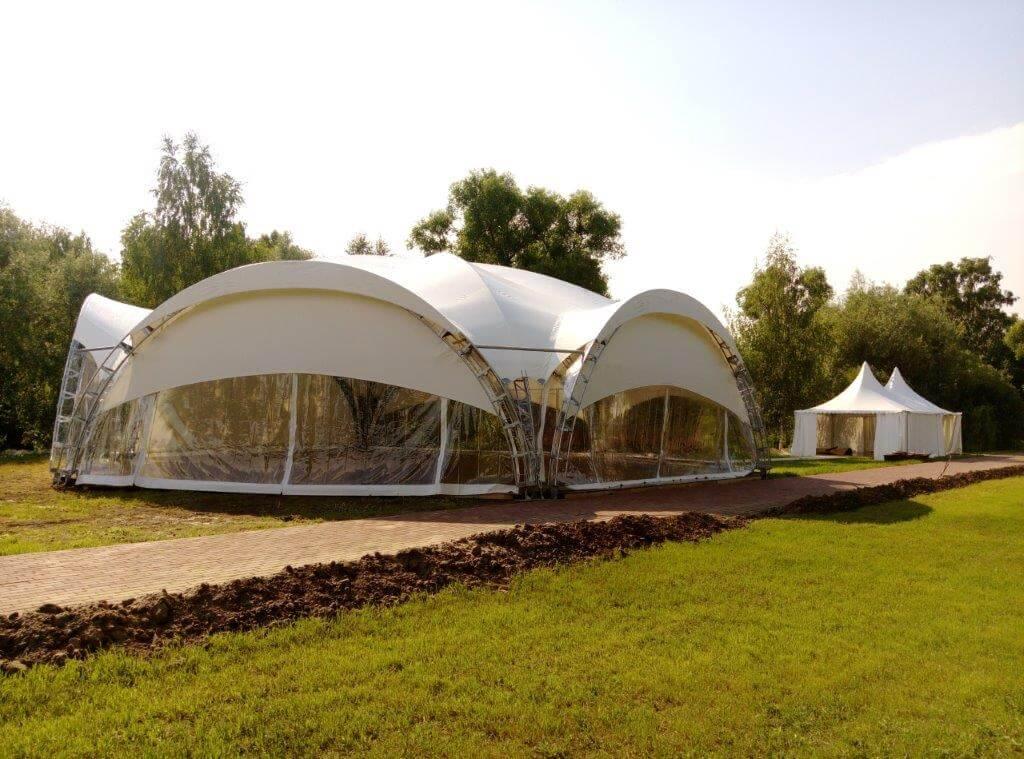 Аренда шатра на поляне