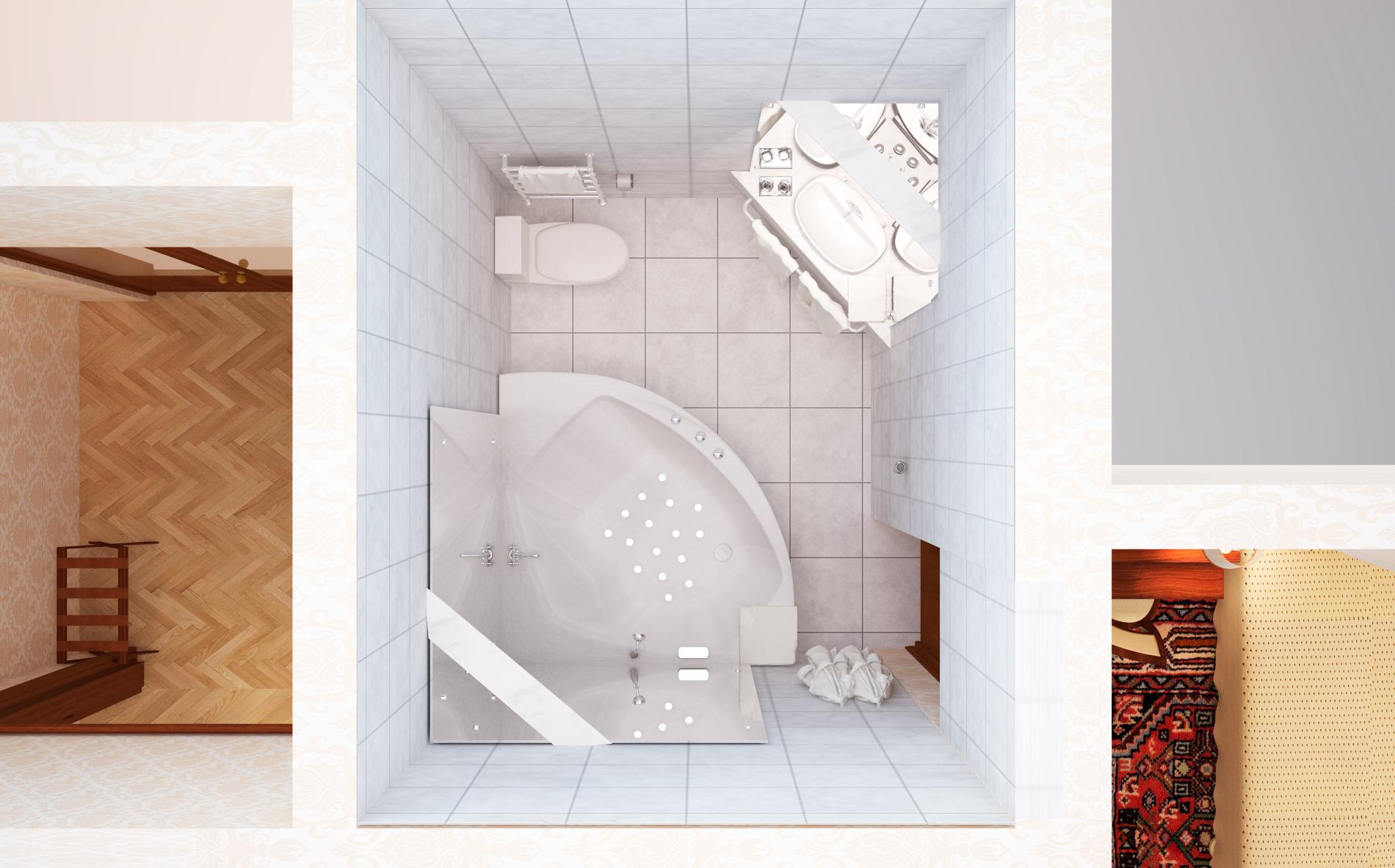 Люкс-угловой-ванная